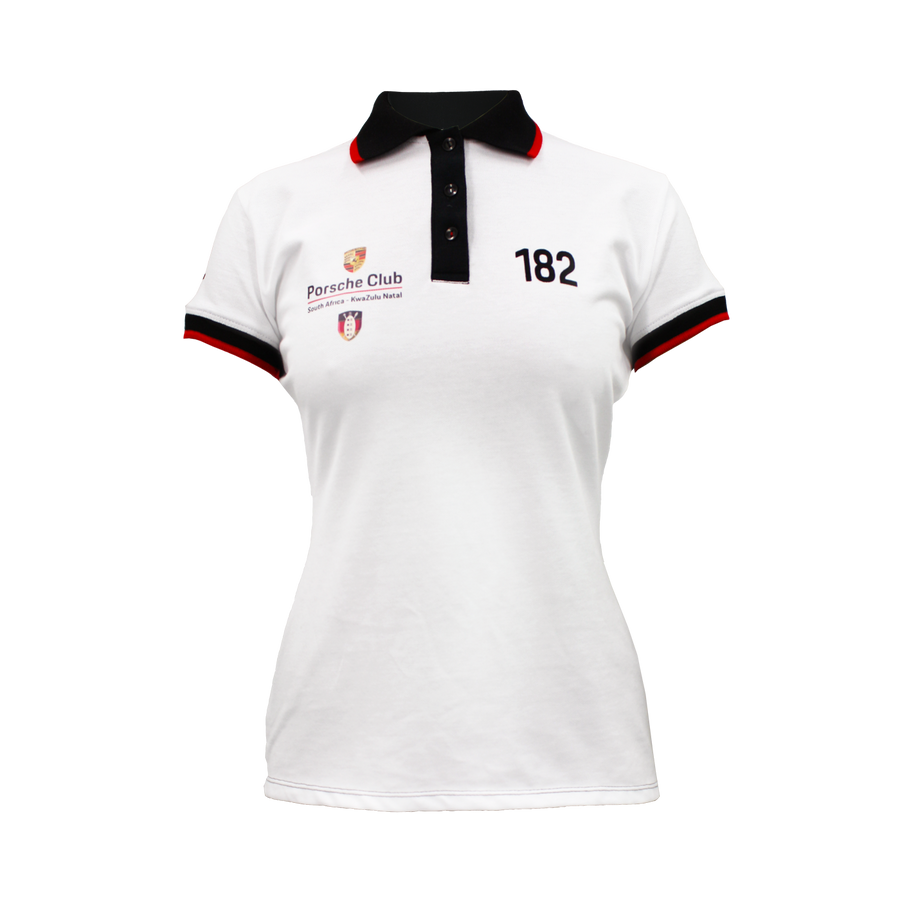 PCSA KZN Golf Shirt Ladies Cotton White