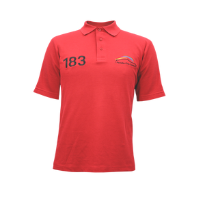 PCSA Central Golf Shirt Mens Cotton Red
