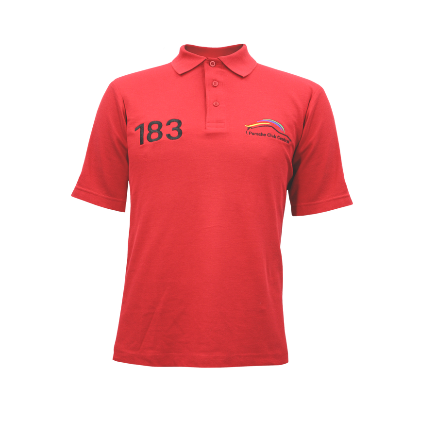 PCSA Central Golf Shirt Mens PC PQ Red