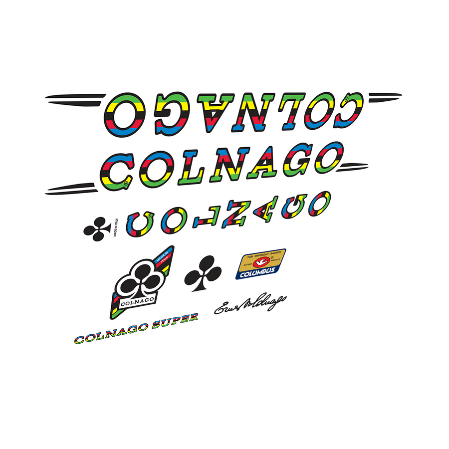 Colnago Super World Cup Vinyl Decal Set