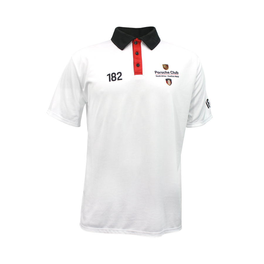 PCSA KZN Golf Shirt Mens Vento White
