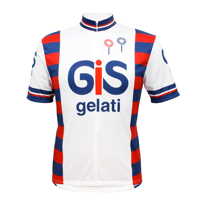 GIS Gelati Retro Cycling Jersey Mens Vento