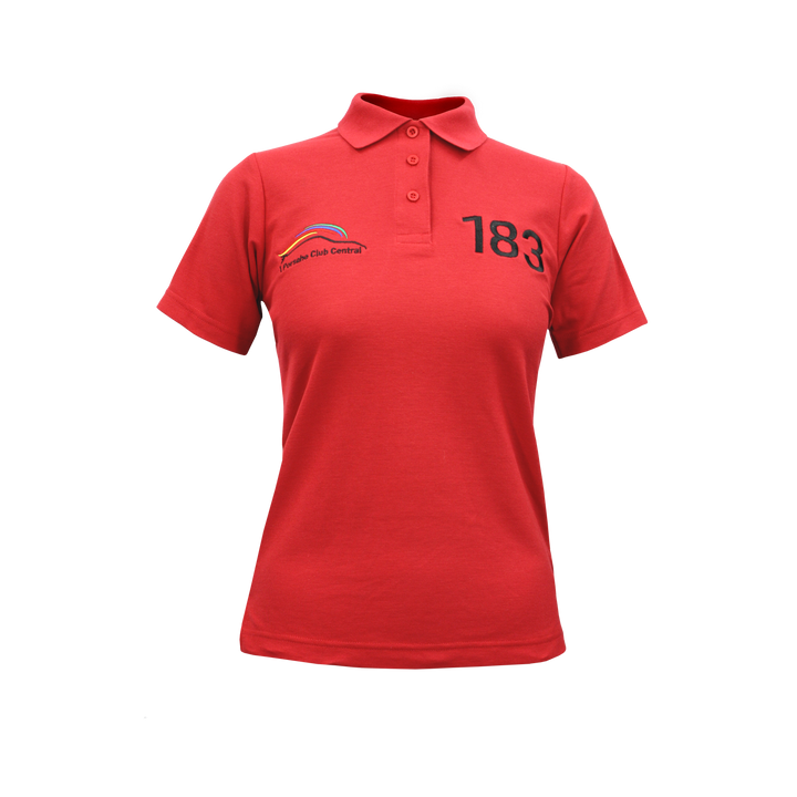 PCSA Central Golf Shirt Ladies Cotton Red