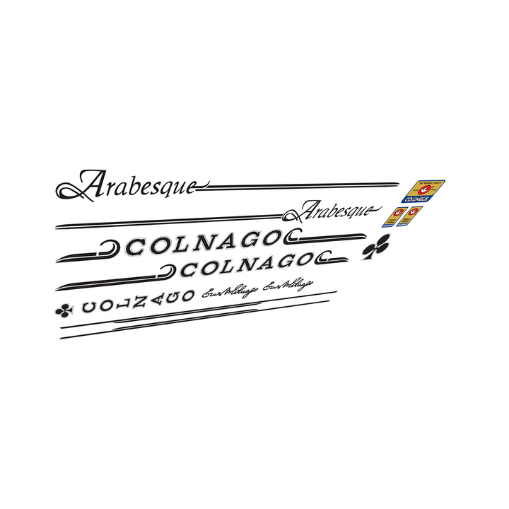 Colnago Arabesque Vinyl Decal Set