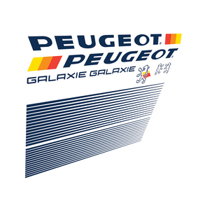 Peugeot Galaxie Vinyl Decal Set