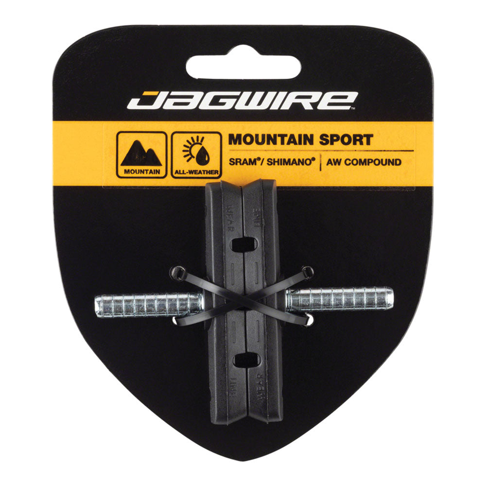 Jagwire Mountain Sport Brake Pads Smooth Post 70mm Pad, Black