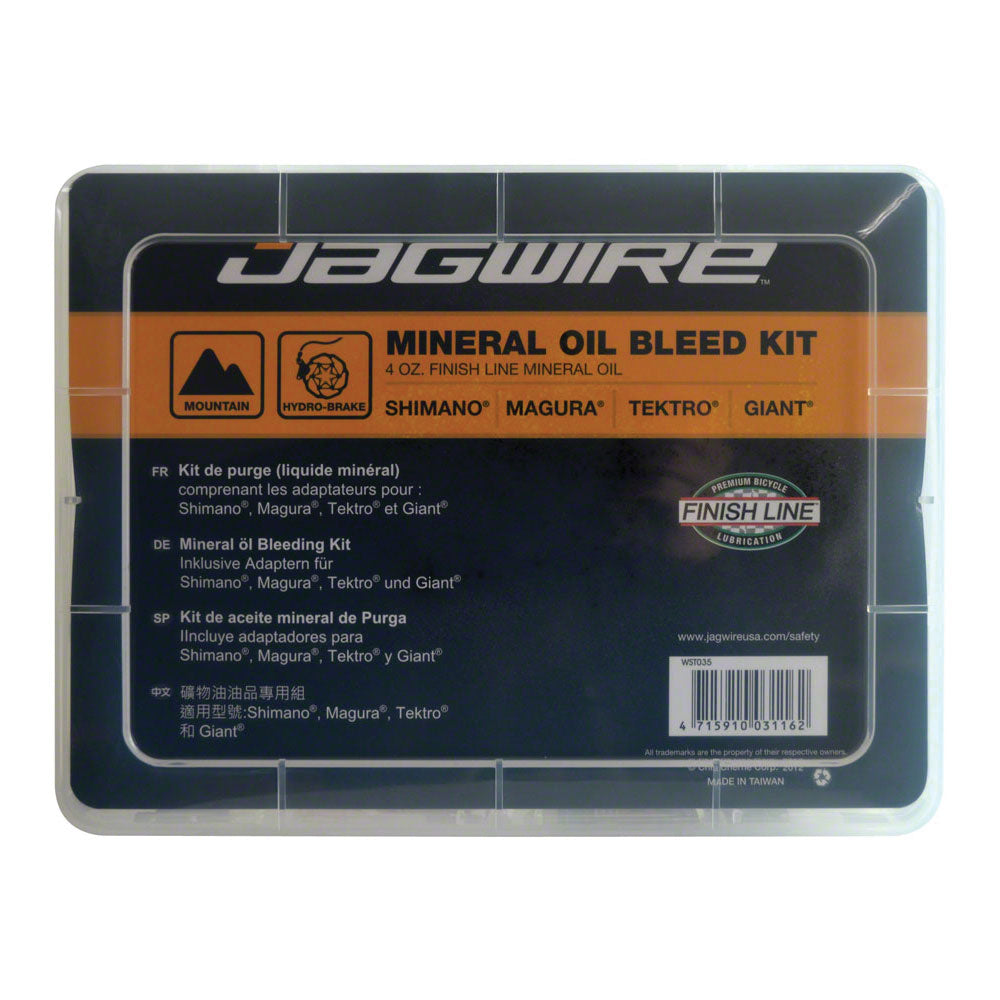 Jagwire Pro Mineral Oil Bleed Kit for Shimano Magura Tektro Giant Hydraulic Disc Brakes