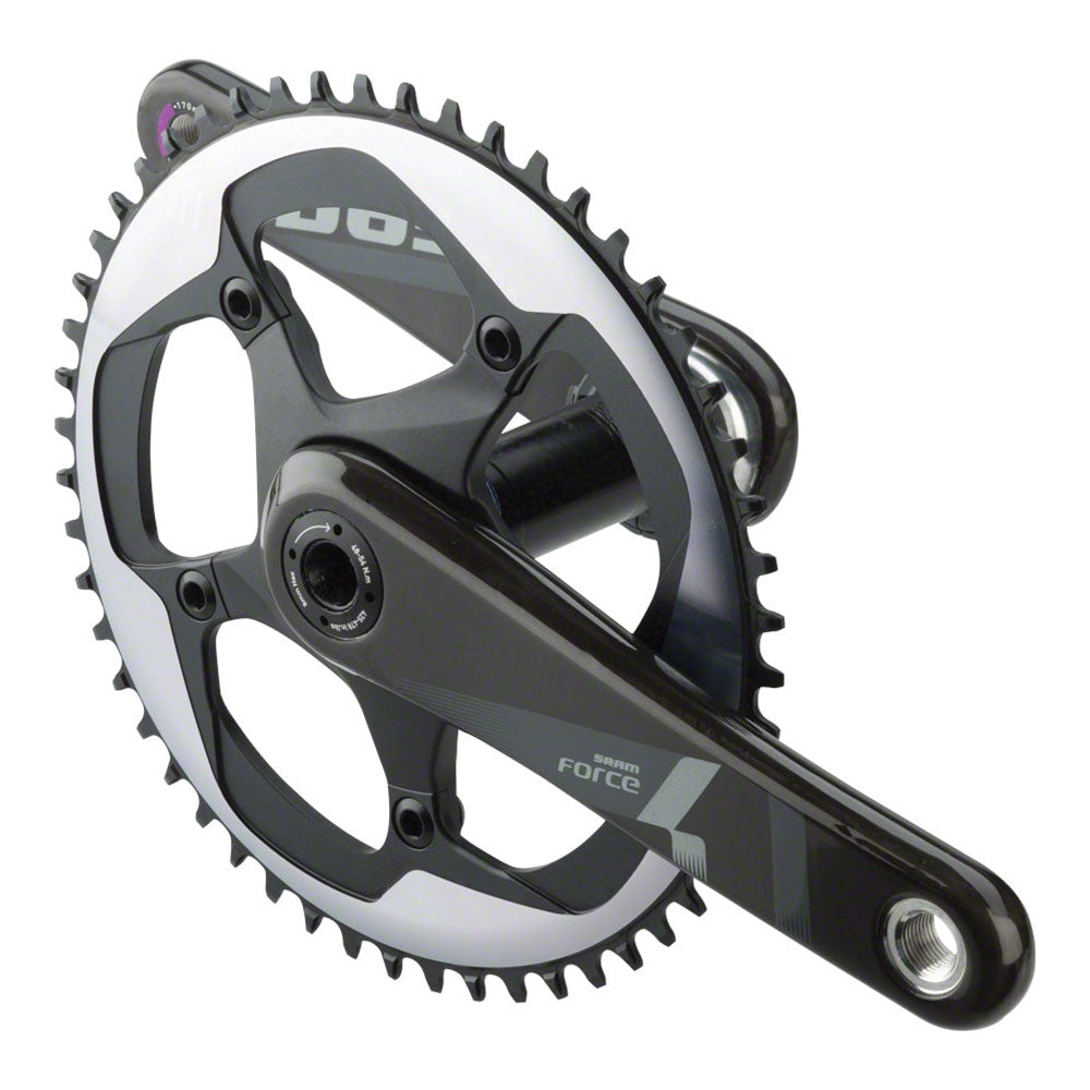 SRAM Force 1 Crankset - 170mm, 10/11-Speed, 52t, 130 BCD, BB30/PF30 Spindle Interface, Black