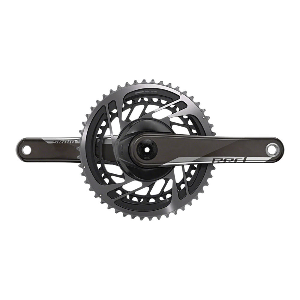 SRAM RED AXS Crankset - 175mm, 12-Speed, 48/35t, Direct Mount, DUB Spindle Interface, Natural Carbon, D1