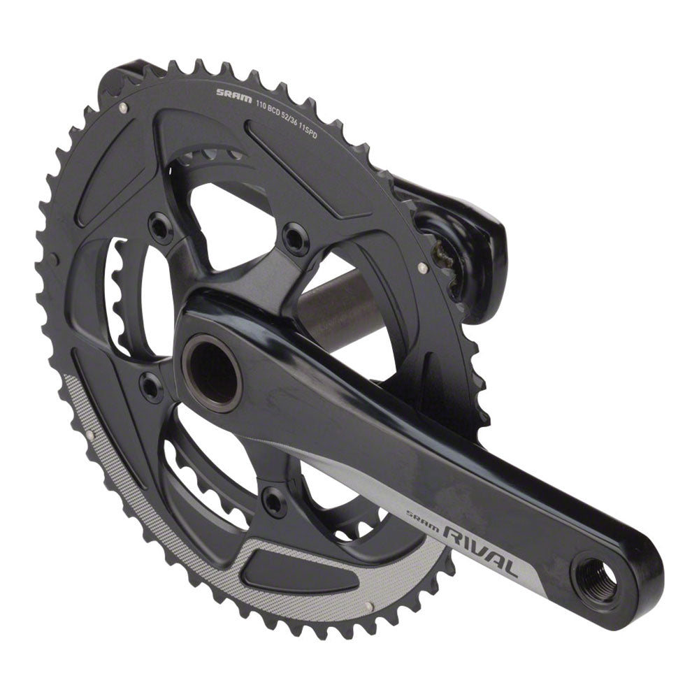 SRAM Rival 22 Crankset - 175mm, 11-Speed, 52/36t, 110 BCD, BB30/PF30 Spindle Interface, Black