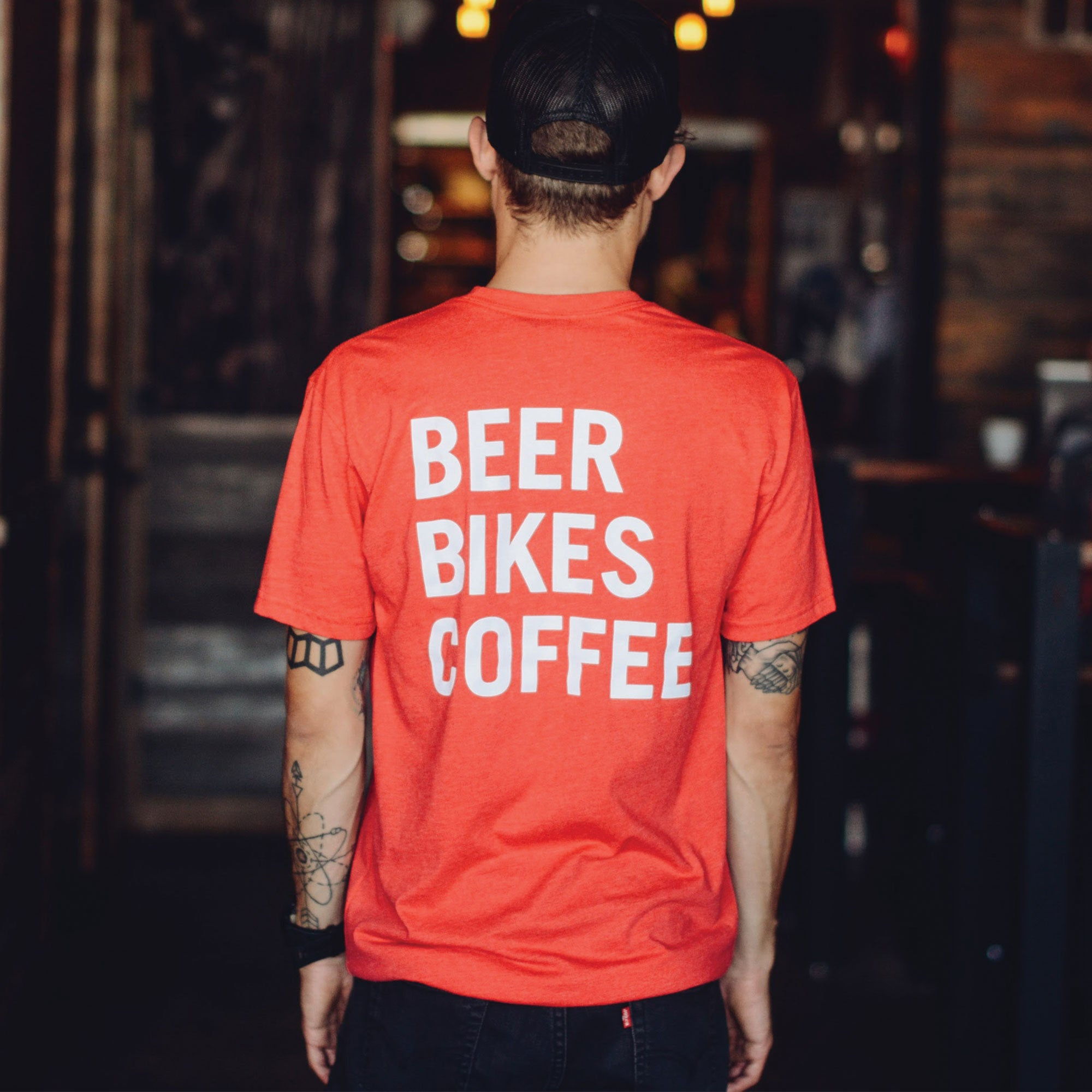 Method Cycles & Craft House Beer Bikes Coffee T-Shirt