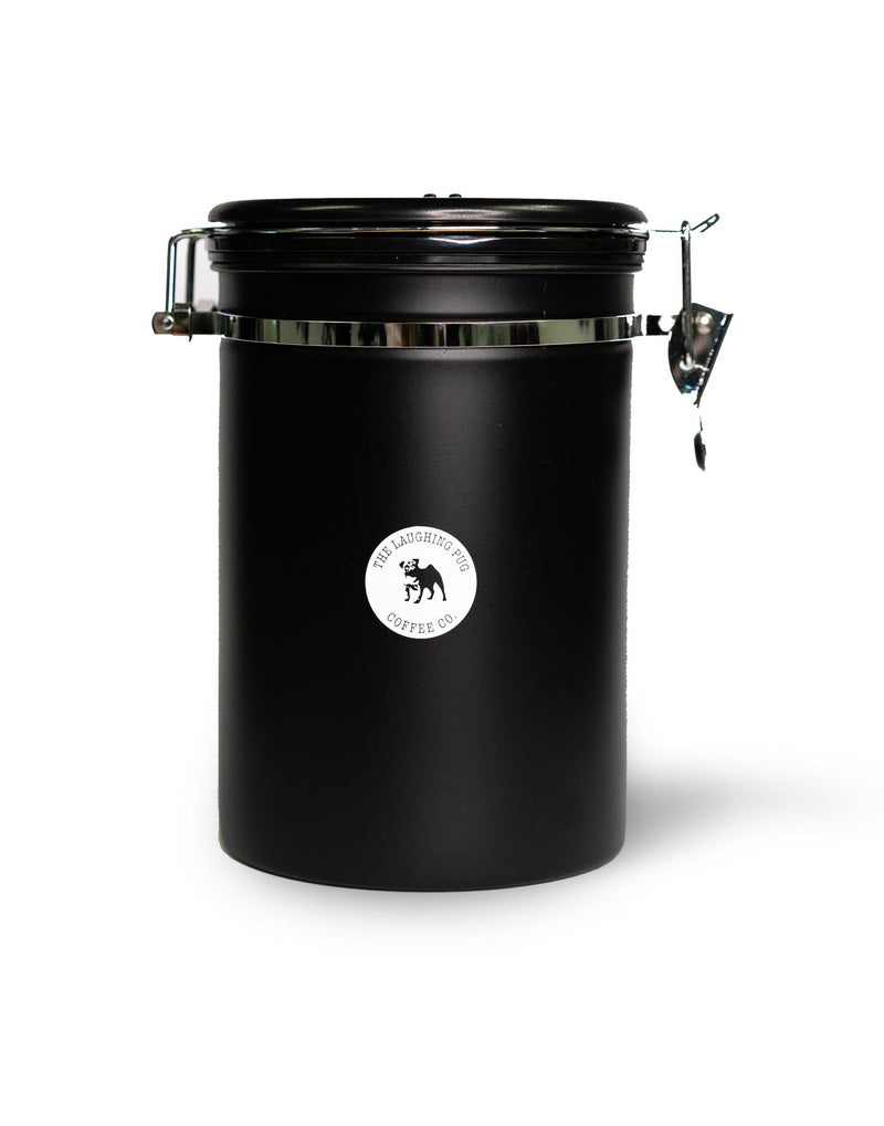 Black Stainless Steel Storage Canister with CO2 release valve