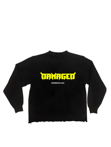 """Utopia"" Cropped Crewneck (Black)"