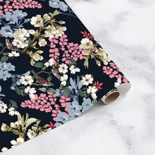 Load image into Gallery viewer, MIDNIGHT FLOWERS Wrapping paper