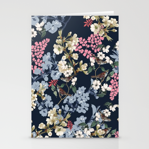 MIDNIGHT BLOOM Greeting Card