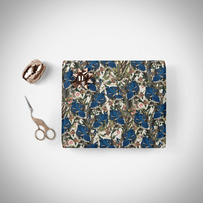 BLUE BIRDS Wrapping Paper