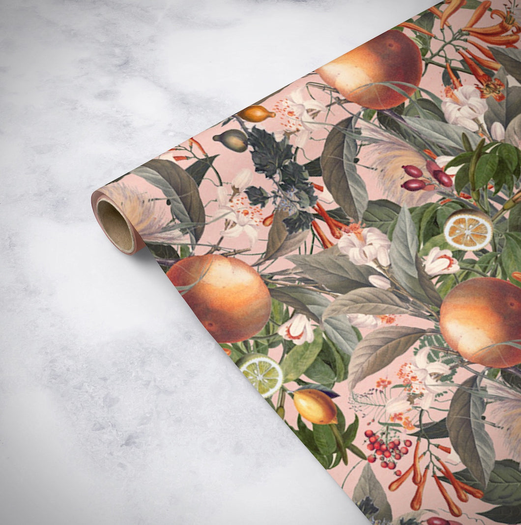 ORANGE BLOOM Wrapping paper