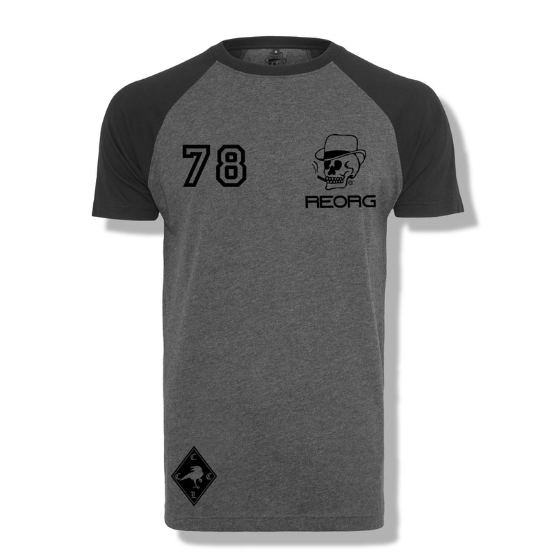 RK x REORG Functional Raglan Short Sleeve - Charcoal