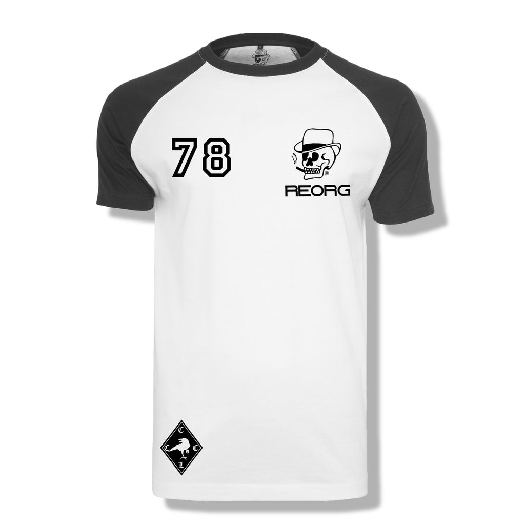 RK x REORG Functional Raglan Tee - Short-sleeve / White/Black Sleeve