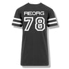 RK x REORG Functional Baseball Tee - Black with White stripe sleeve