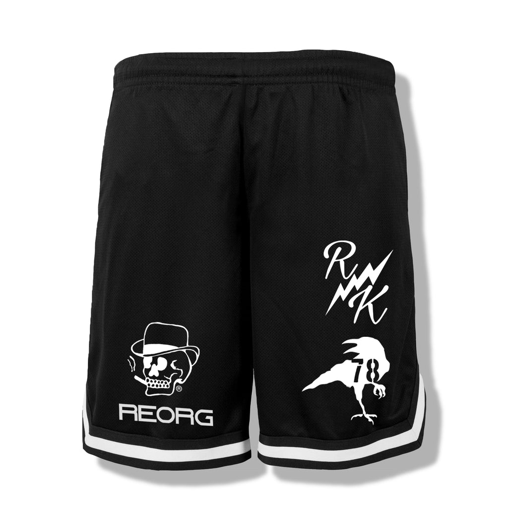 RK x REORG Functional Basketball Shorts - Black/White