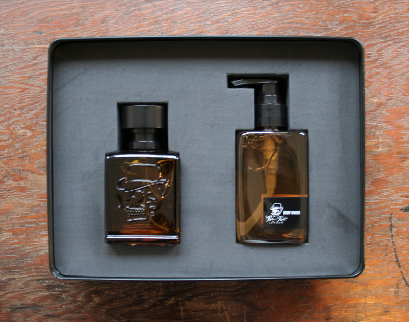 RK Limited Duo Fragrance and Bodywash set with Hand-Finished Vintage Playing Cards