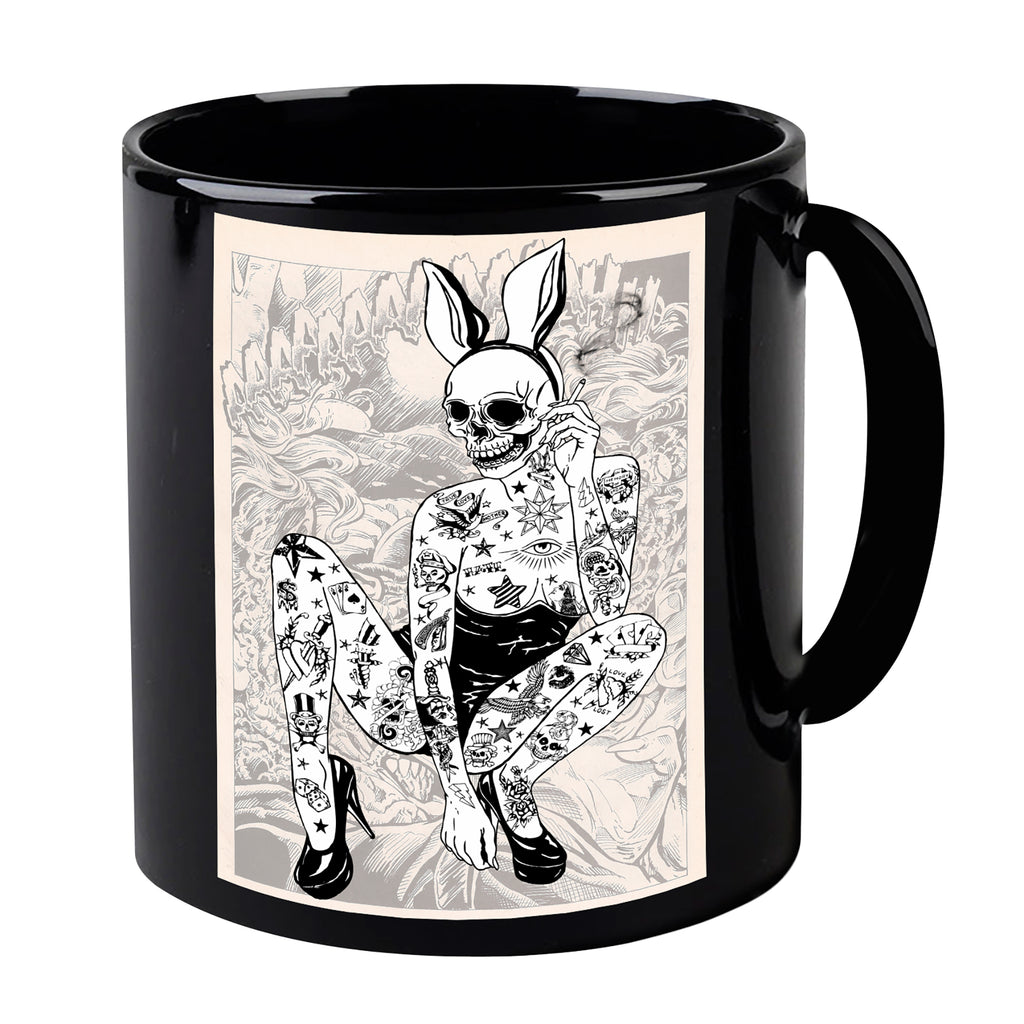 Latex Bunny Black Mug
