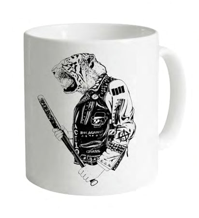 Leather Tiger White Mug