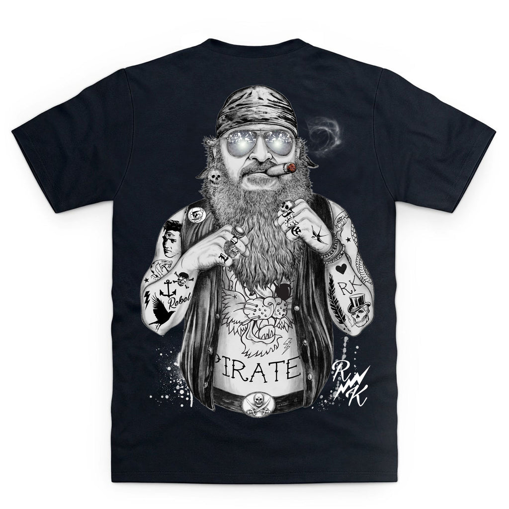 CLEARANCE RK Biker Pirate T-Shirt - Black