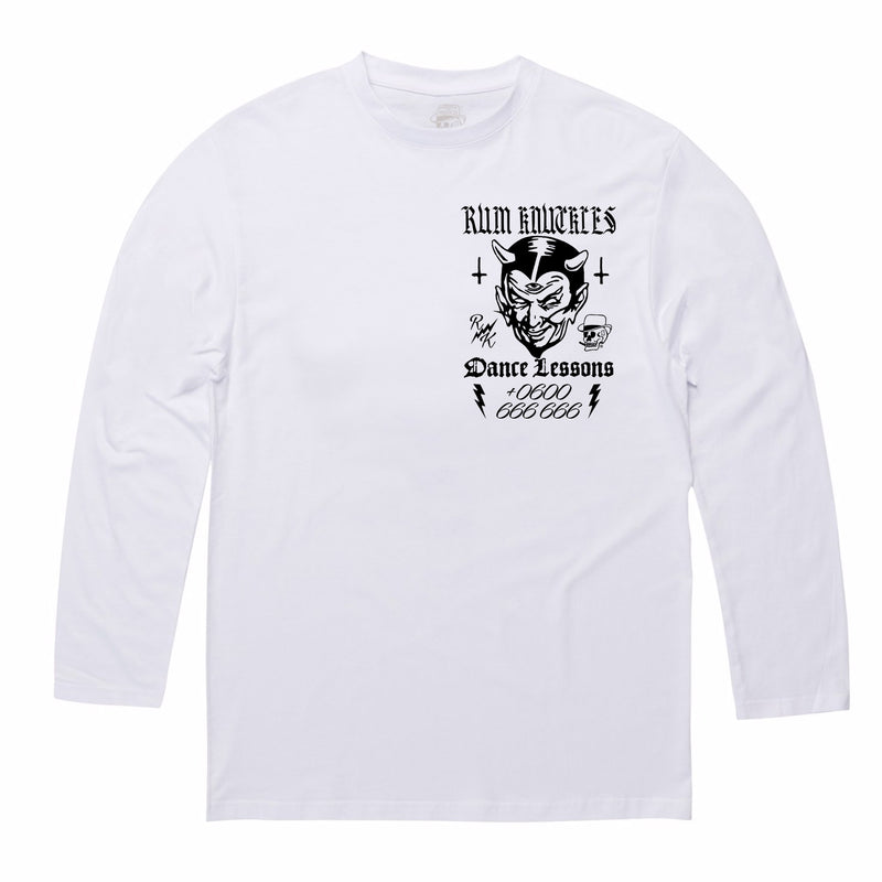 RK Dance Lessons White Long/s Tee