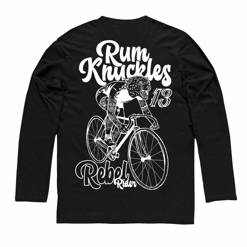 RK Rebel Rider Black Long/s Tee