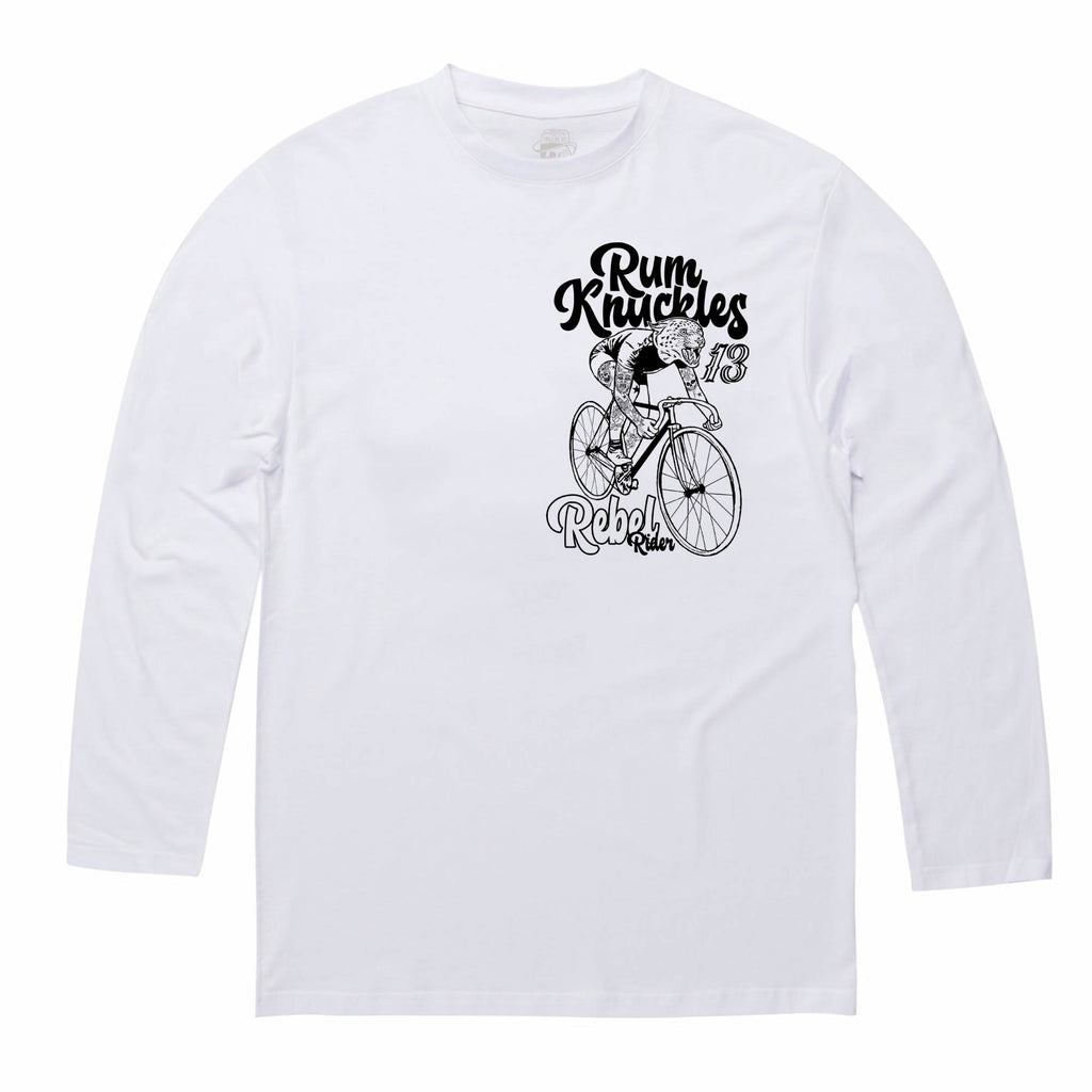 RK Rebel Rider Tee - Long-sleeve / White