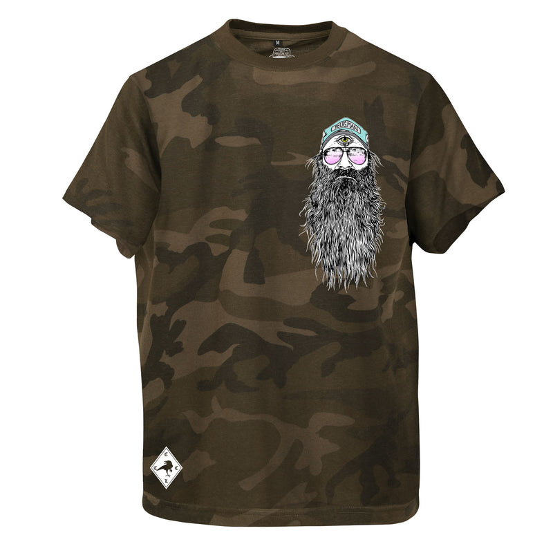 RUGMAN Beardy Man T-Shirt - Green Camouflage