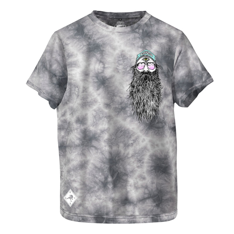 RK RUGMAN Beardy Man - Tie Dye Grey T-Shirt