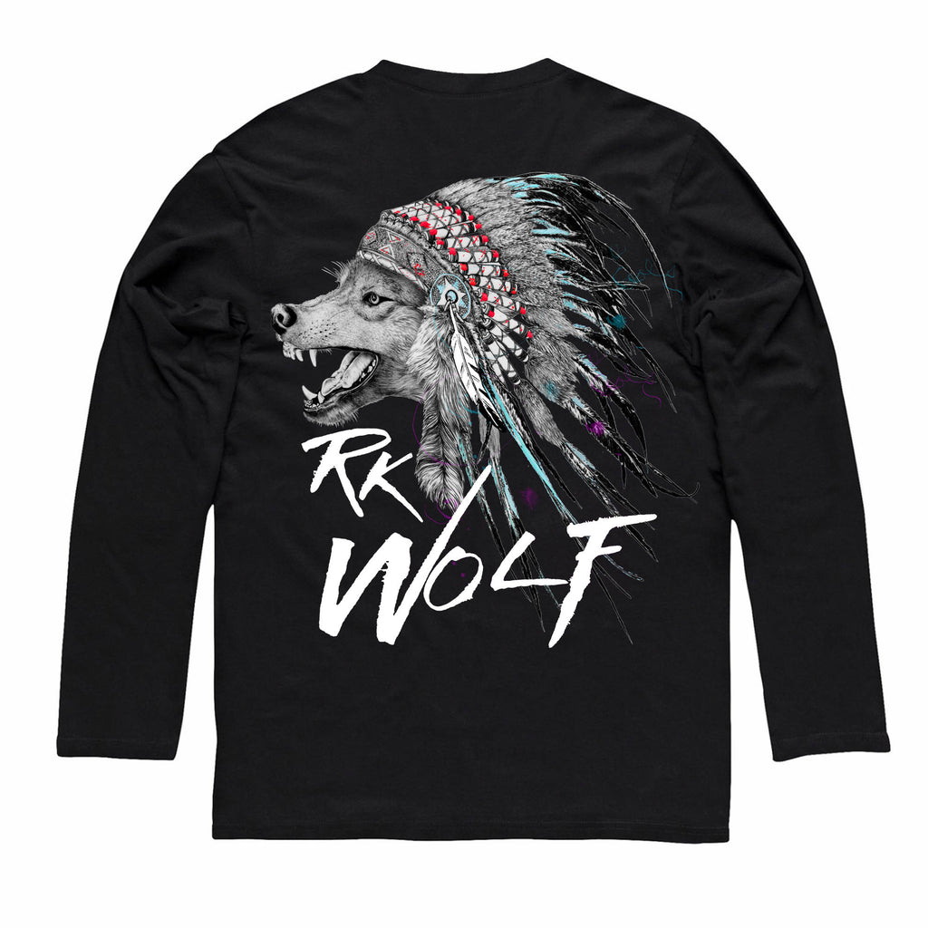 RK Wolf Black Long/s Tee