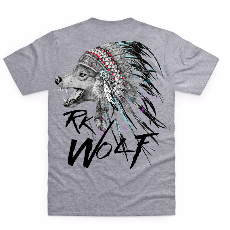 RK Wolf Heather Grey T-Shirt