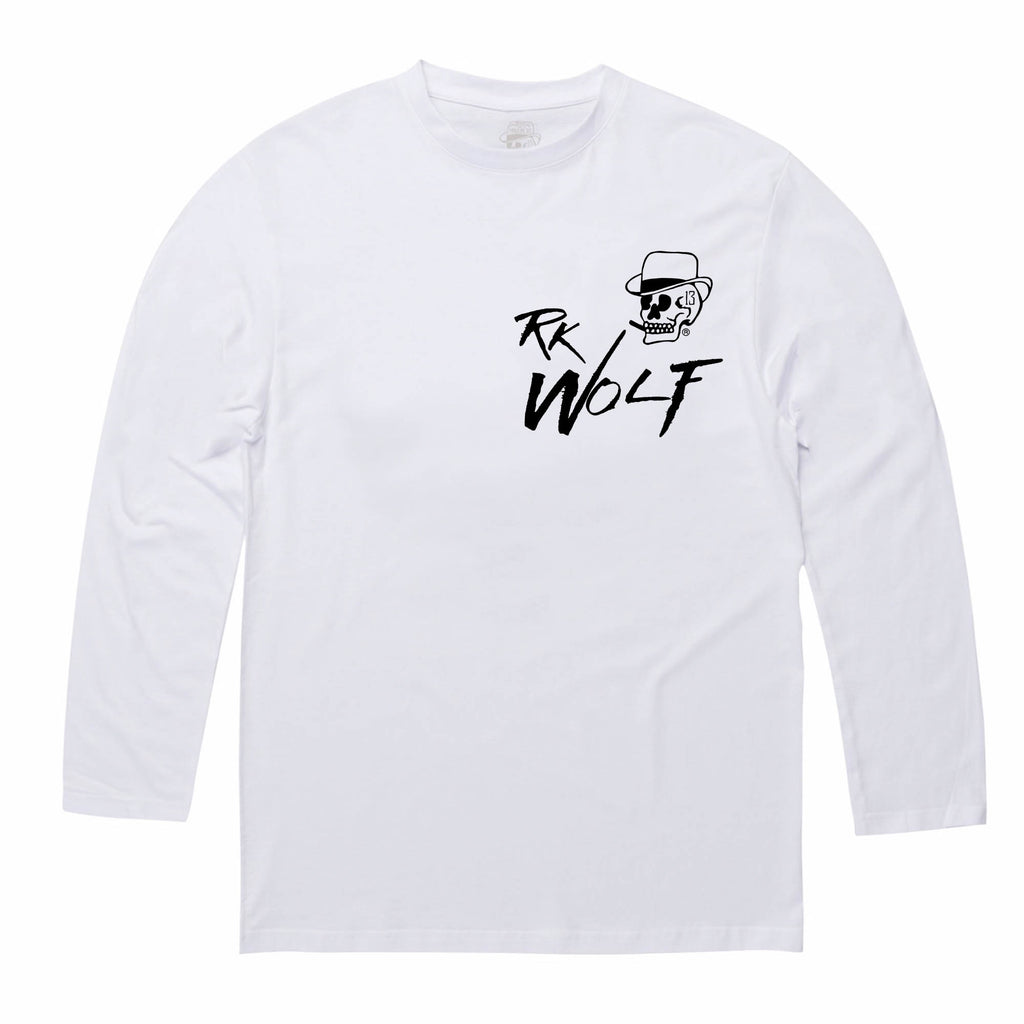 RK Wolf White Long/s Tee