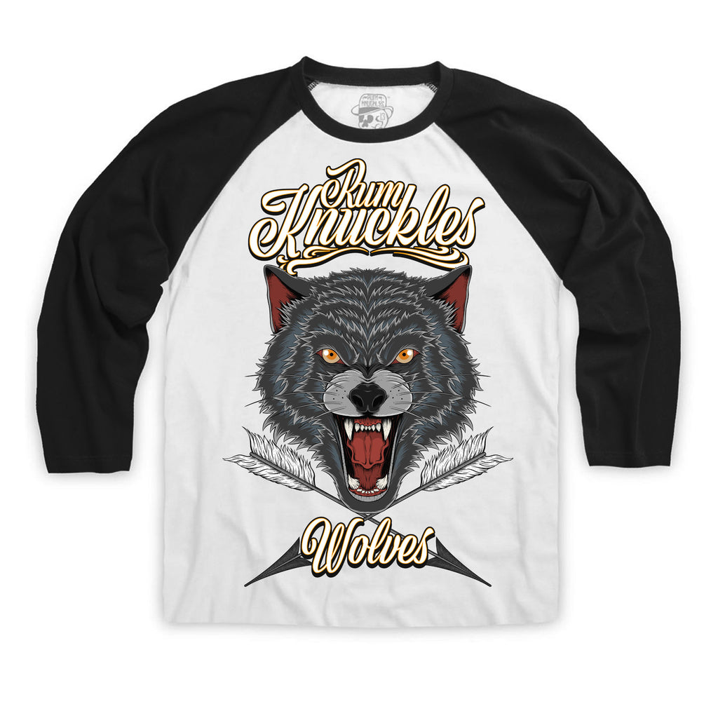 RK Wolves Arrows 3/4 Sleeve Raglan Baseball Tee