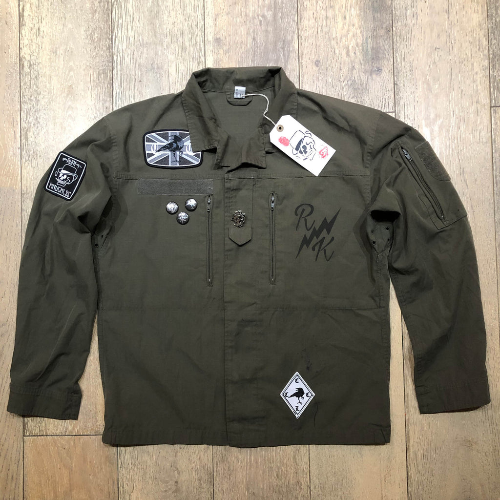 RK RVN Green Army Shirt Jacket 2 - COYOTE Rip Stop Vintage F2