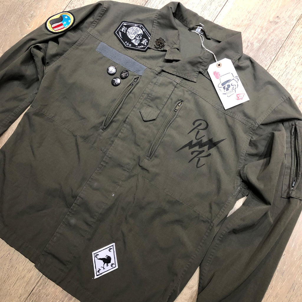 RK RVN Green Army Shirt Jacket 3 - COYOTE Rip Stop Vintage F2
