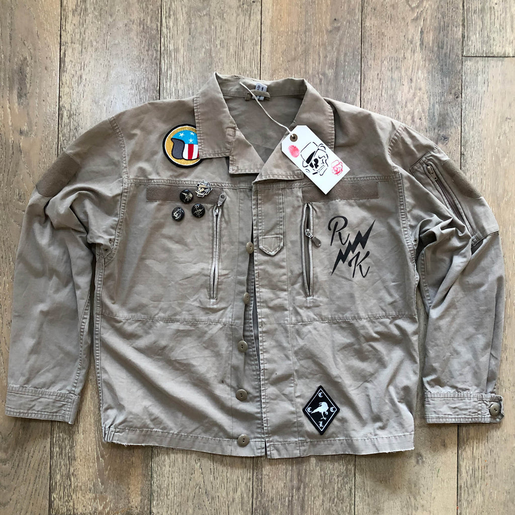 RK Raven - Army Shirt Jacket COYOTE Rip Stop Vintage F2
