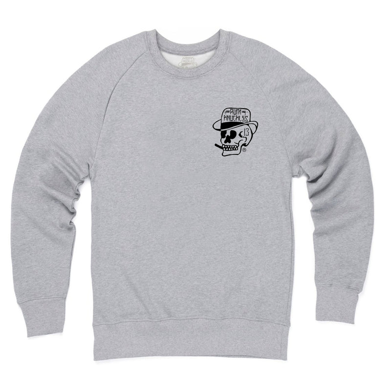 Skull Logo Sweater Grey Marle