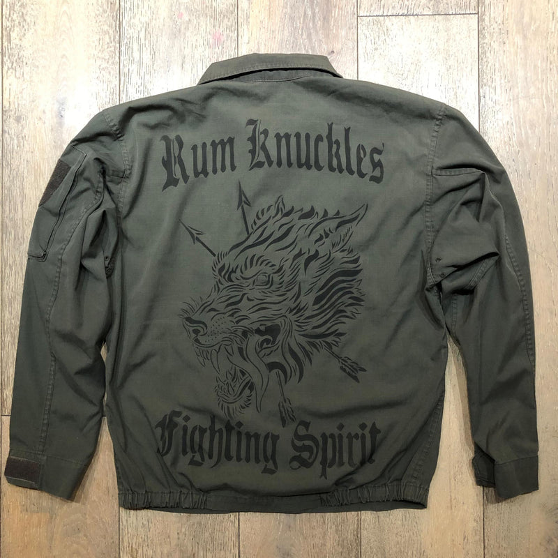 RK WLF Green Army Shirt Jacket 4 - COYOTE Rip Stop Vintage F2