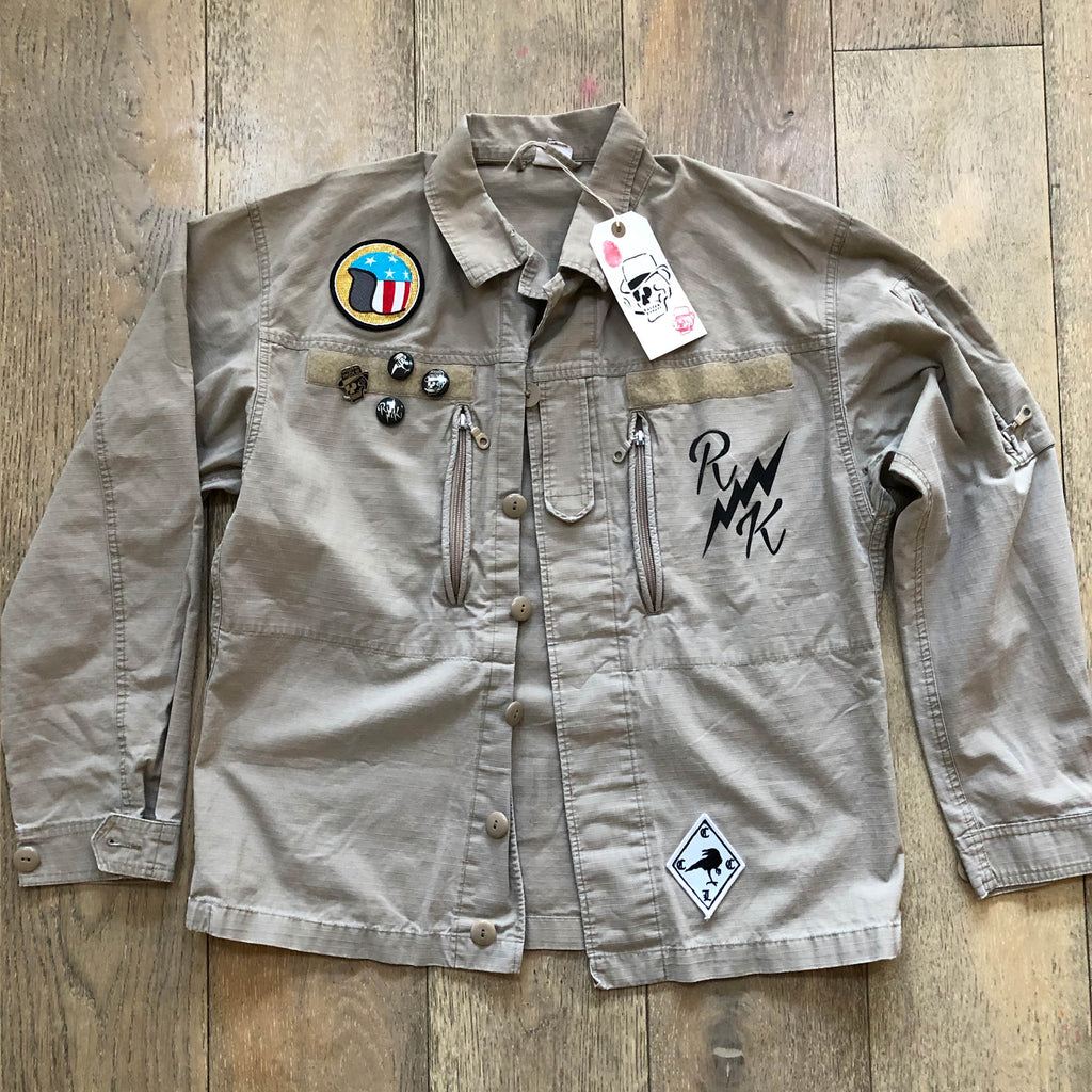 RK Wolf - Army Shirt Jacket COYOTE Rip Stop Vintage F2