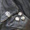 RK Wolf - Hand Painted Vintage Leather Biker Jacket