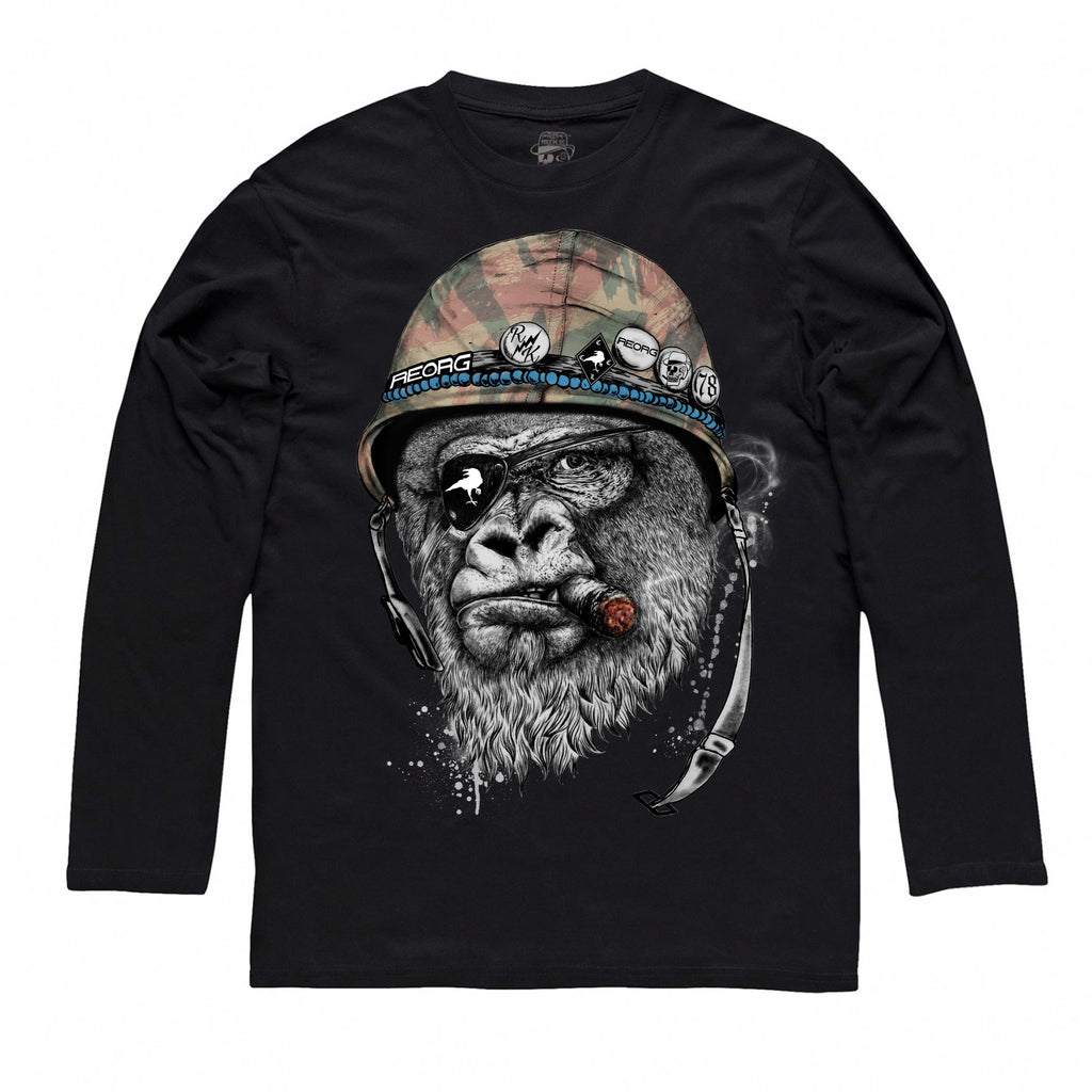 RK x REORG Silverback Tee - Long-sleeve / Black