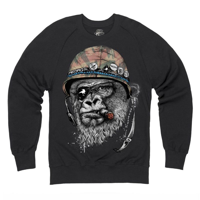 RK x REORG Silverback Sweat - Black