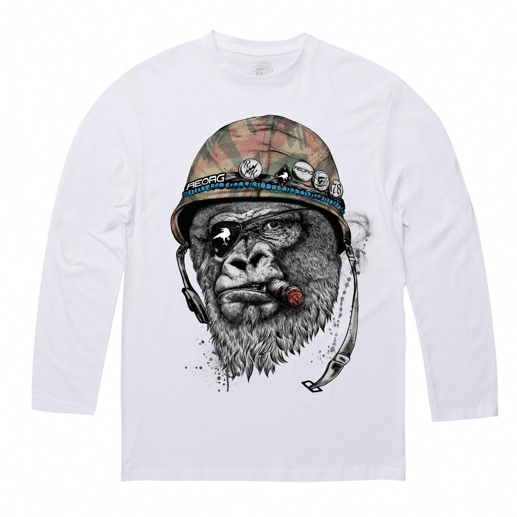 RK x REORG Silverback T-Shirt - Long-sleeve / White