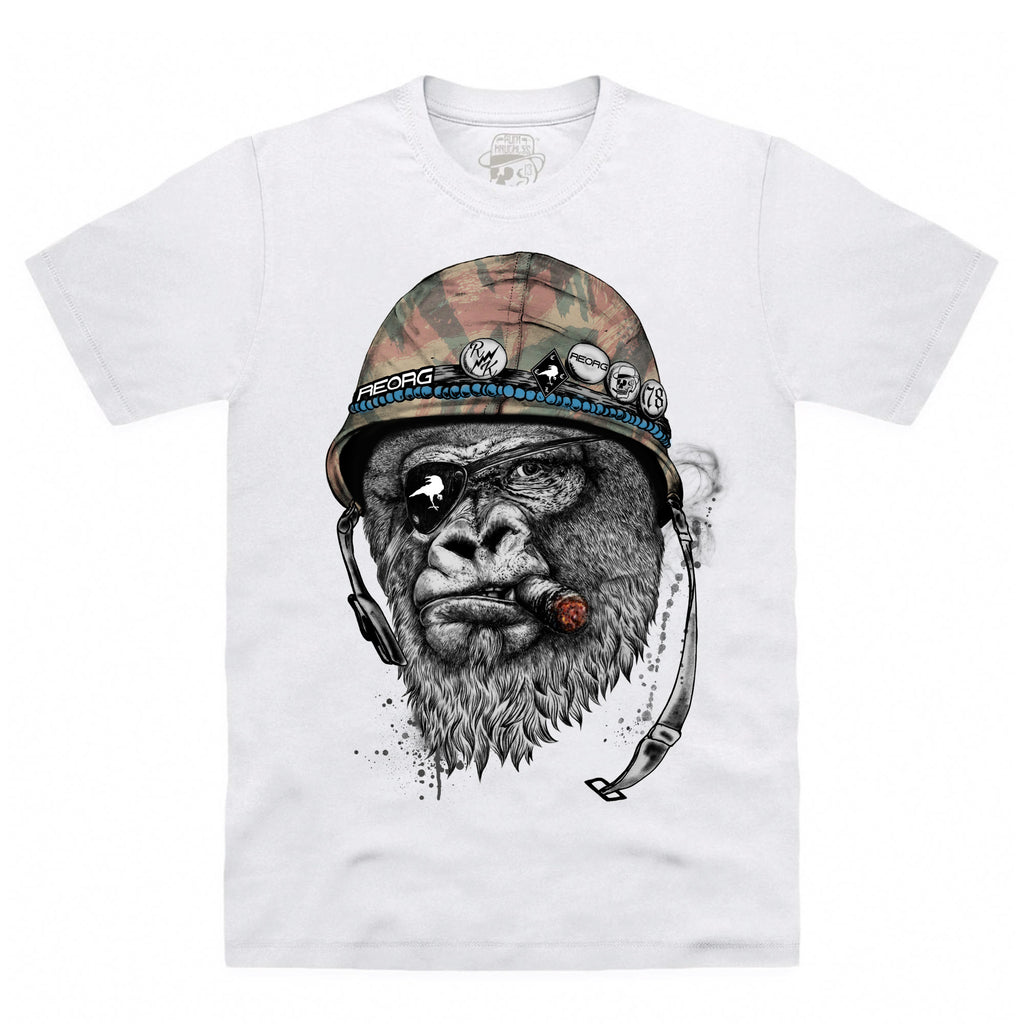 CLEARANCE RK x REORG Silverback T-Shirt - White