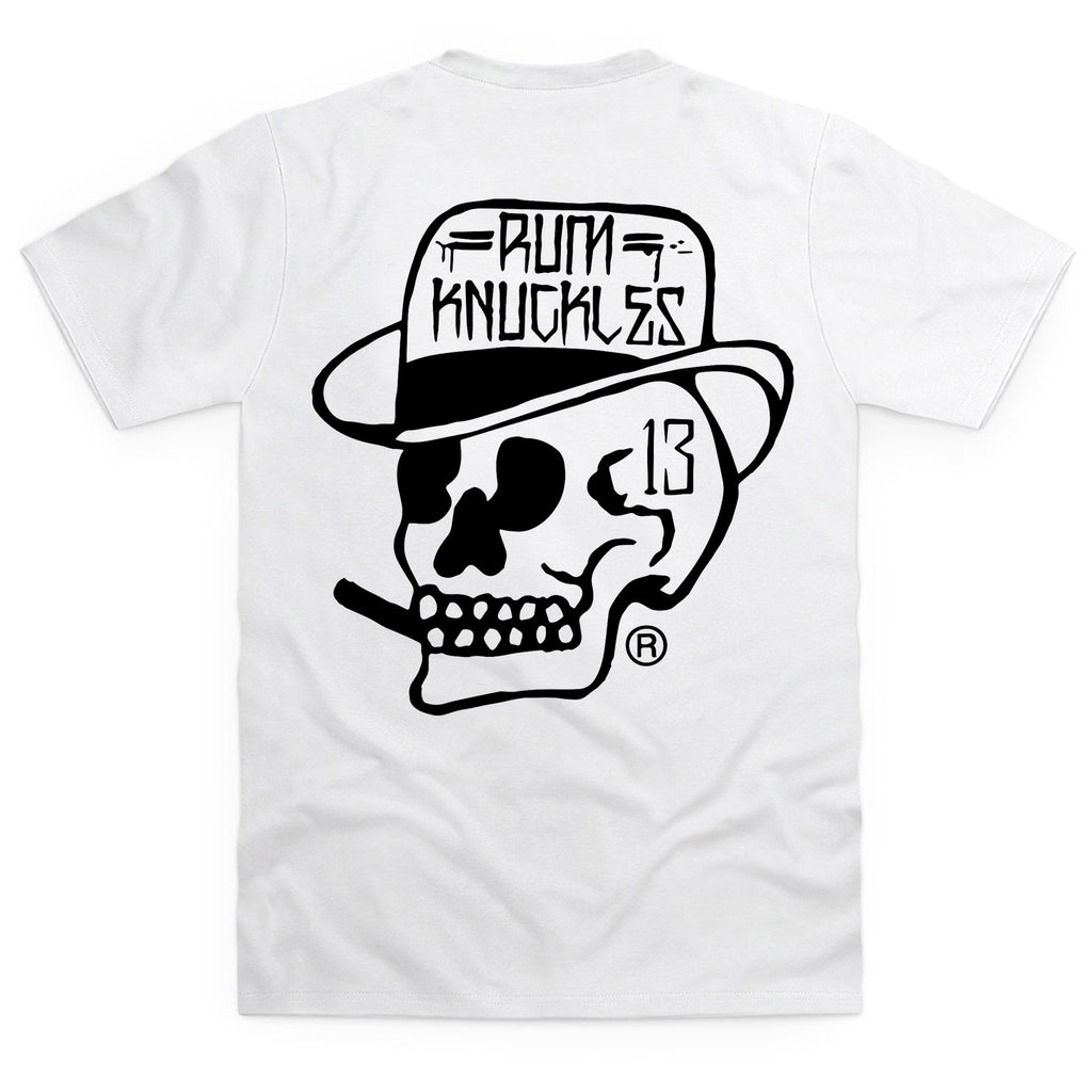 RK Skull Logo back T Shirt White